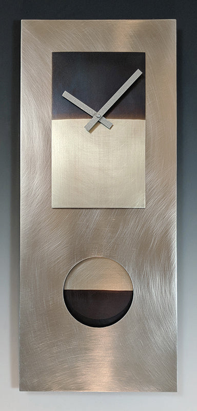 Steel and Nickel 24 Pendulum Clock