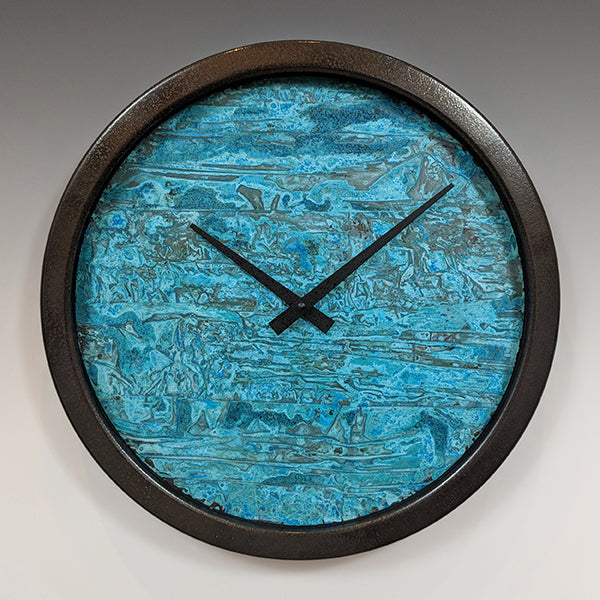 Verdigris Circle Wall Clock