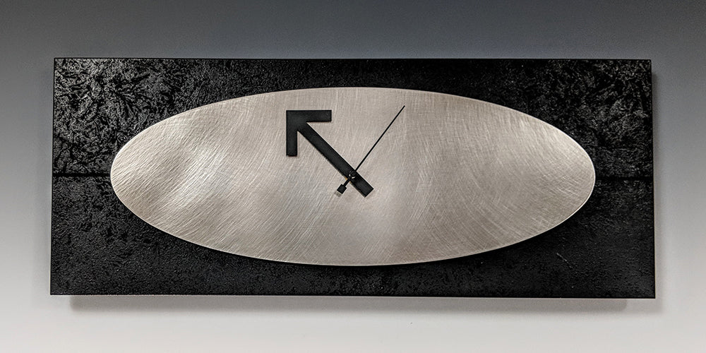 Marley Steel and Black Wall Clock