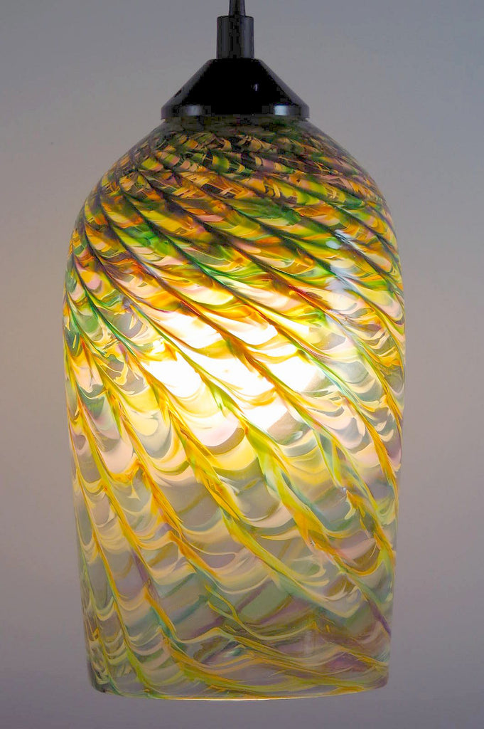 MG Clear Optic Blown Glass Pendant Lamp