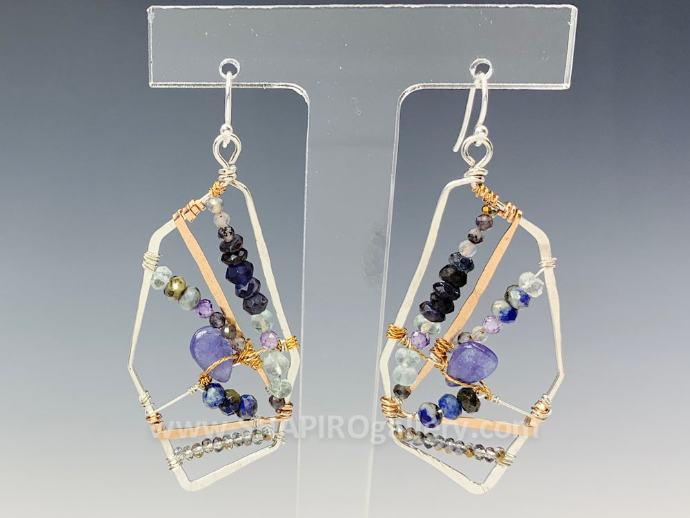 Geometric Woven Earrings