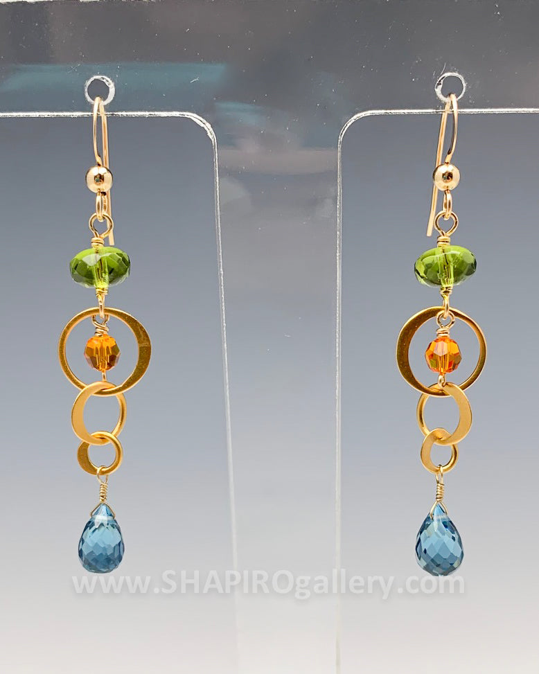 Fun Colorful Drop Earrings