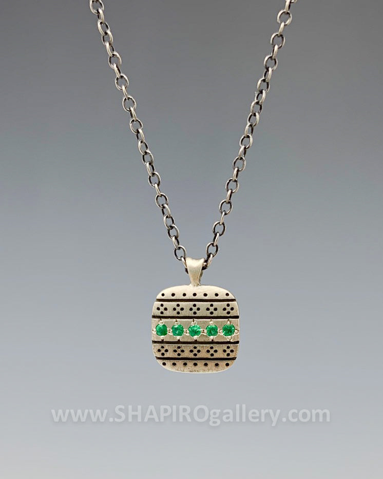 Emerald Square Nomad Necklace