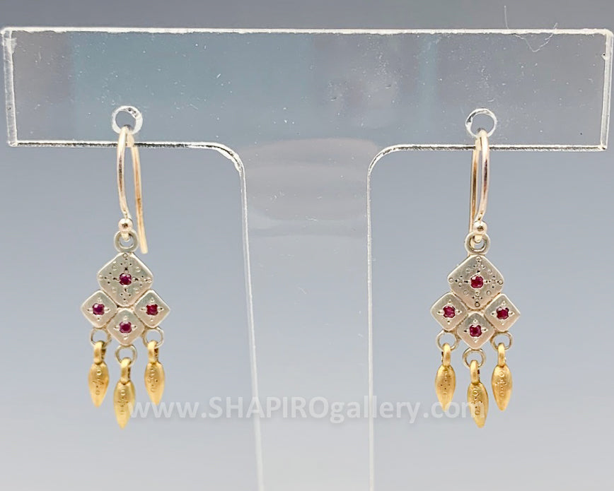 Ruby Harmony Mosaic Earrings