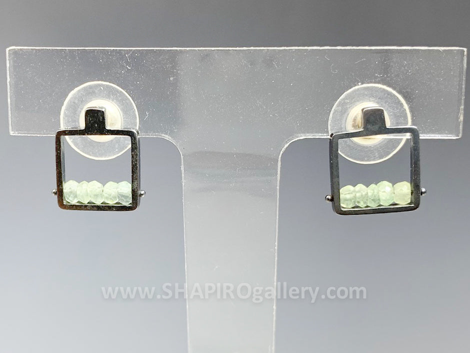 Prehnite Frame Post Earrings