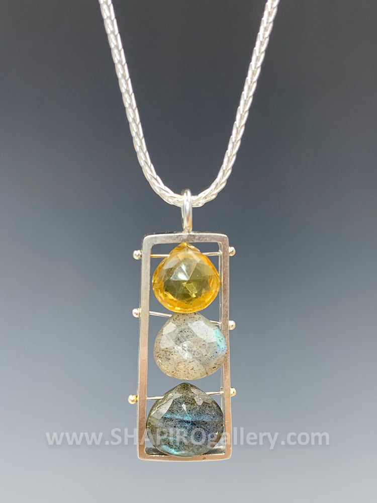 Citrine and Labradorite Necklace