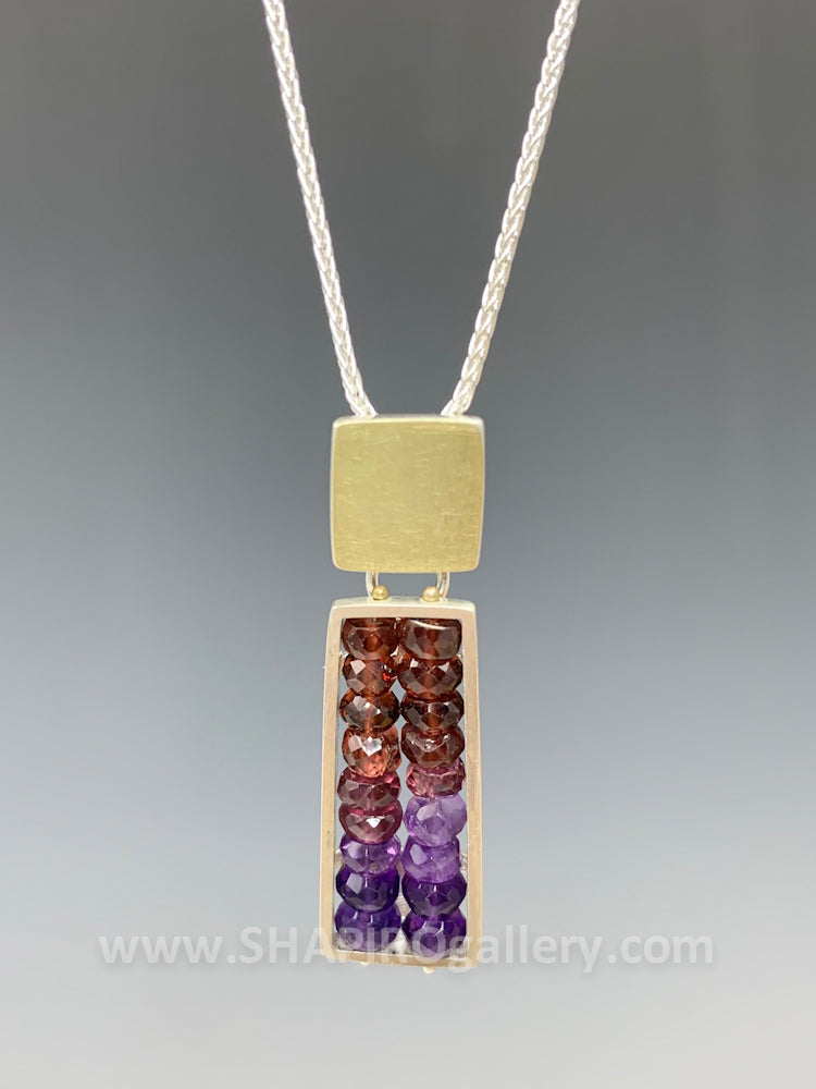 Totem Red/Pink/Purple Necklace