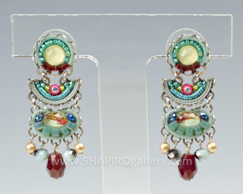 Grace Earrings - Turquoise Crown