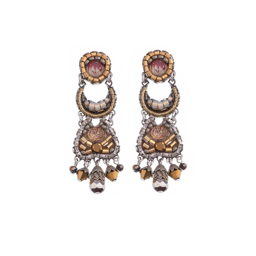 Silvana Earrings - Golden Fog