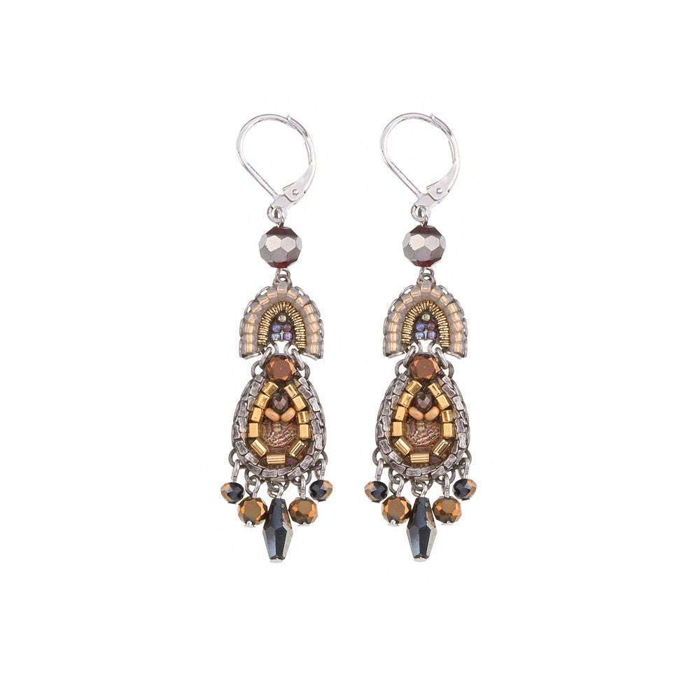Ritva Earrings - Golden Fog