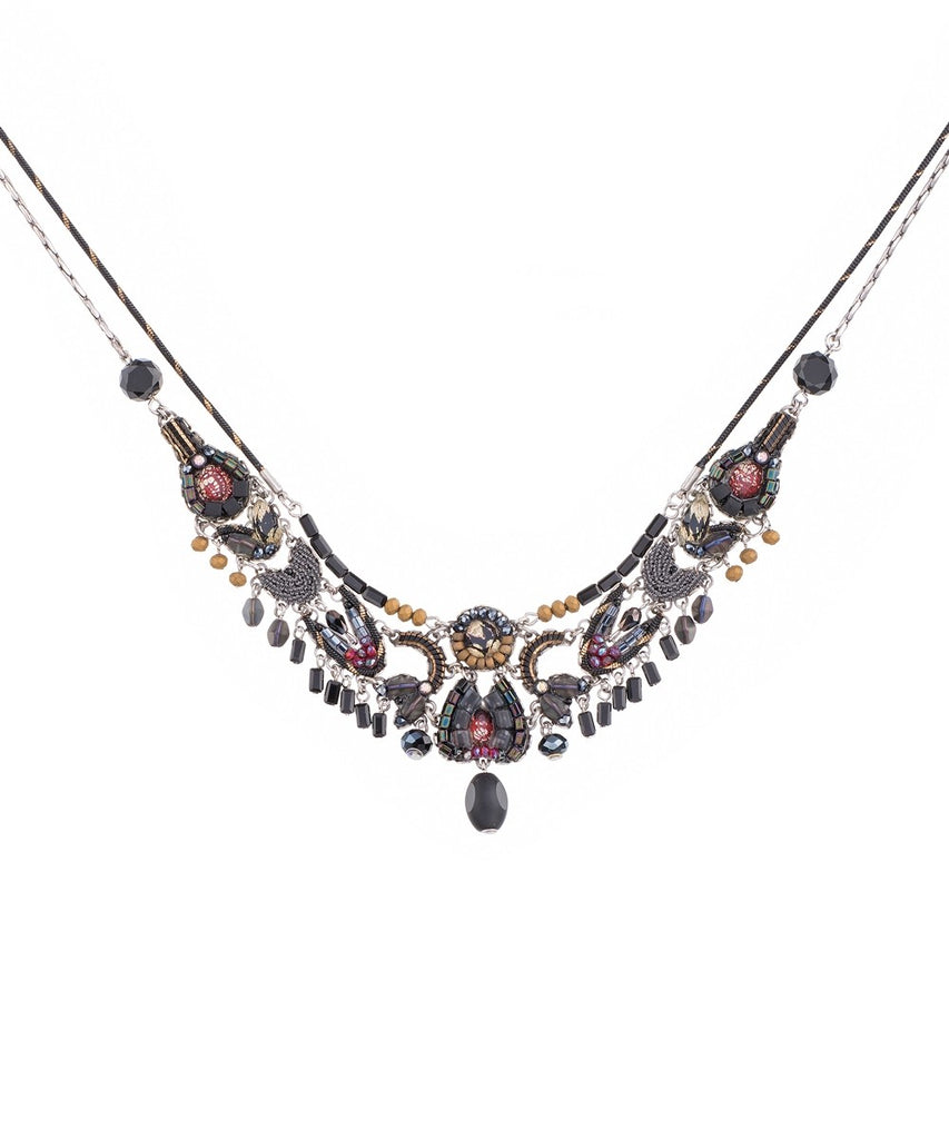 Chandana Necklace - Moon Jet
