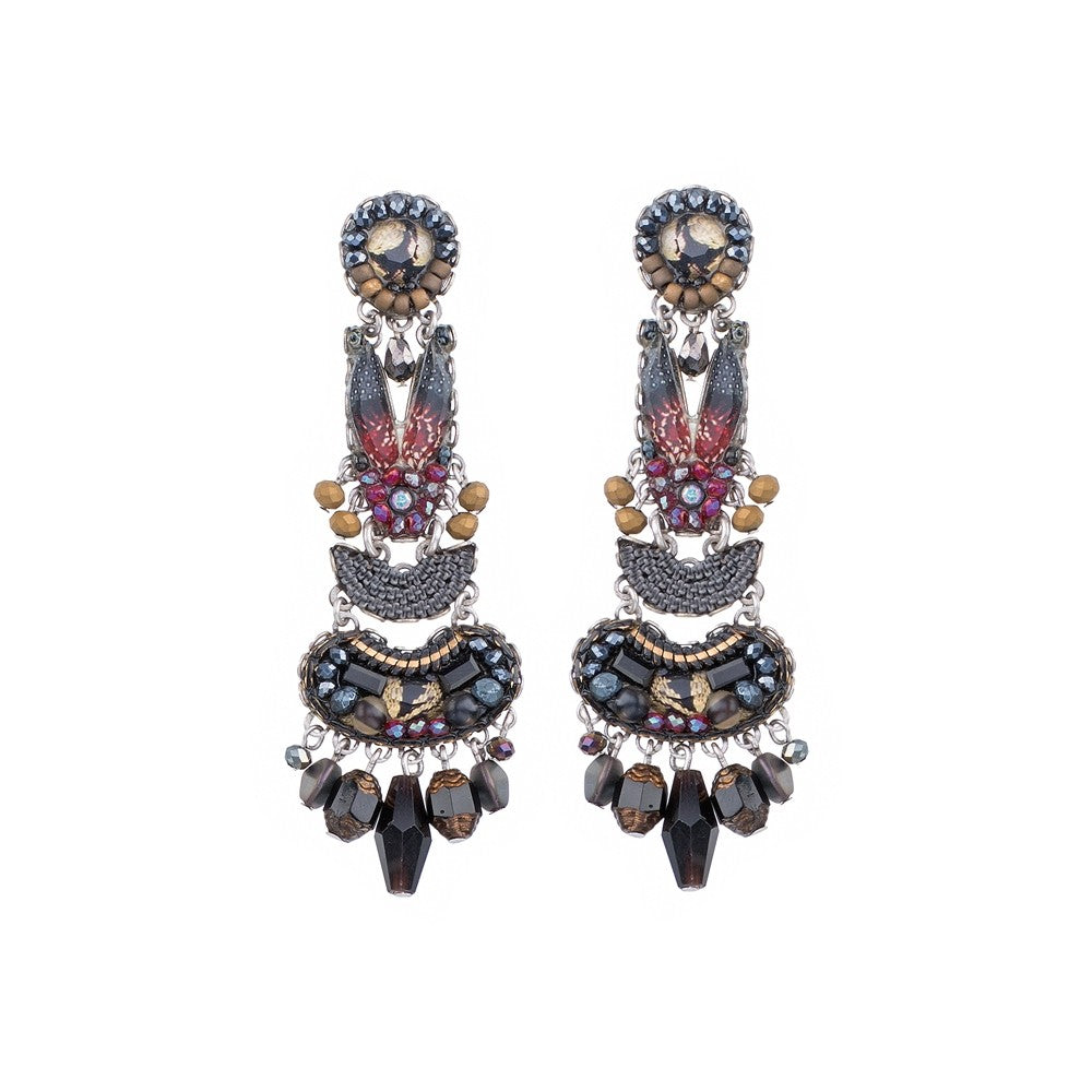 Caroline Earrings - Moon Jet