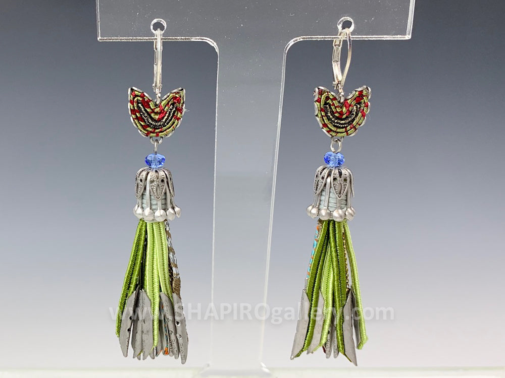 Fiesta Green Fringe Earrings