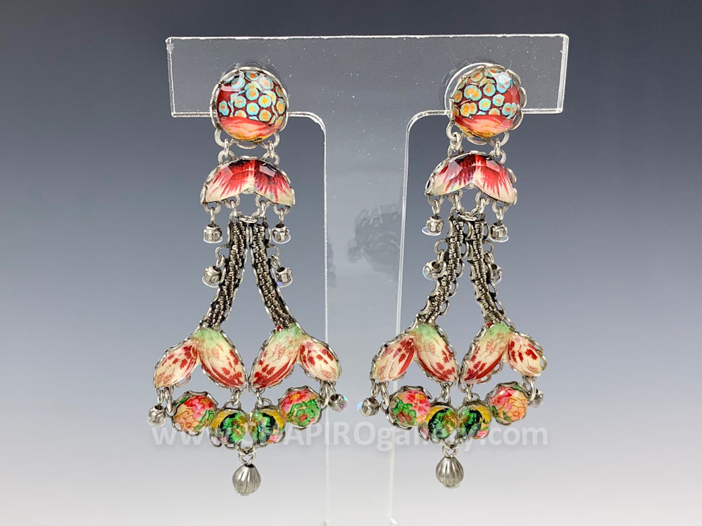 Coral Cave Earrings