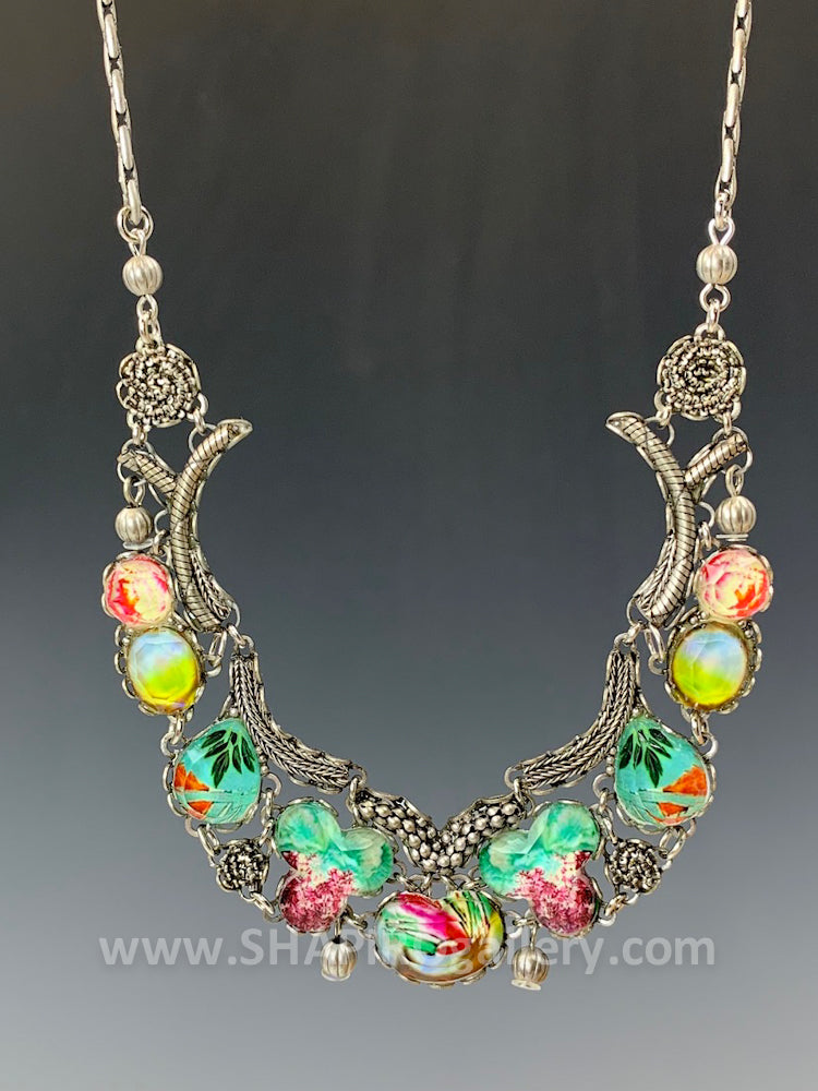 Full Moon Statement Necklace