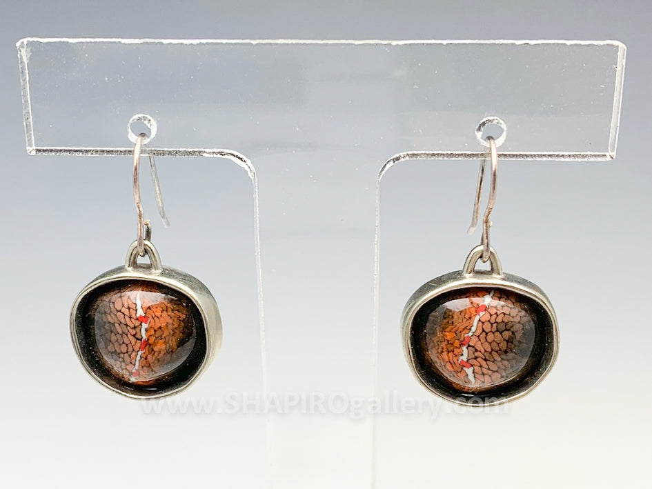 Porcelain and Sterling Silver Earrings