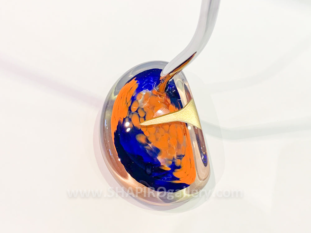 Blown Glass Putter - Blue and Orange