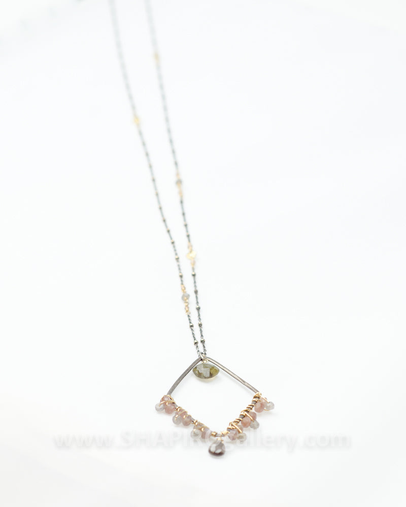 Long Diamond Shaped Necklace