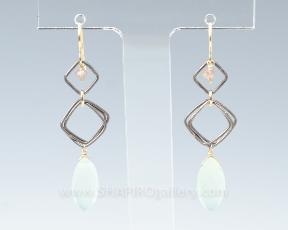 Interlocked Square Earrings