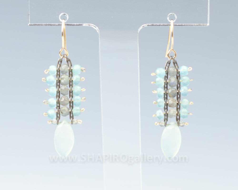 Fishtail Chalcedony Earrings