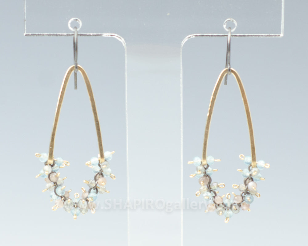 Hammered Gold-Filled Triangle Shaped Earrings