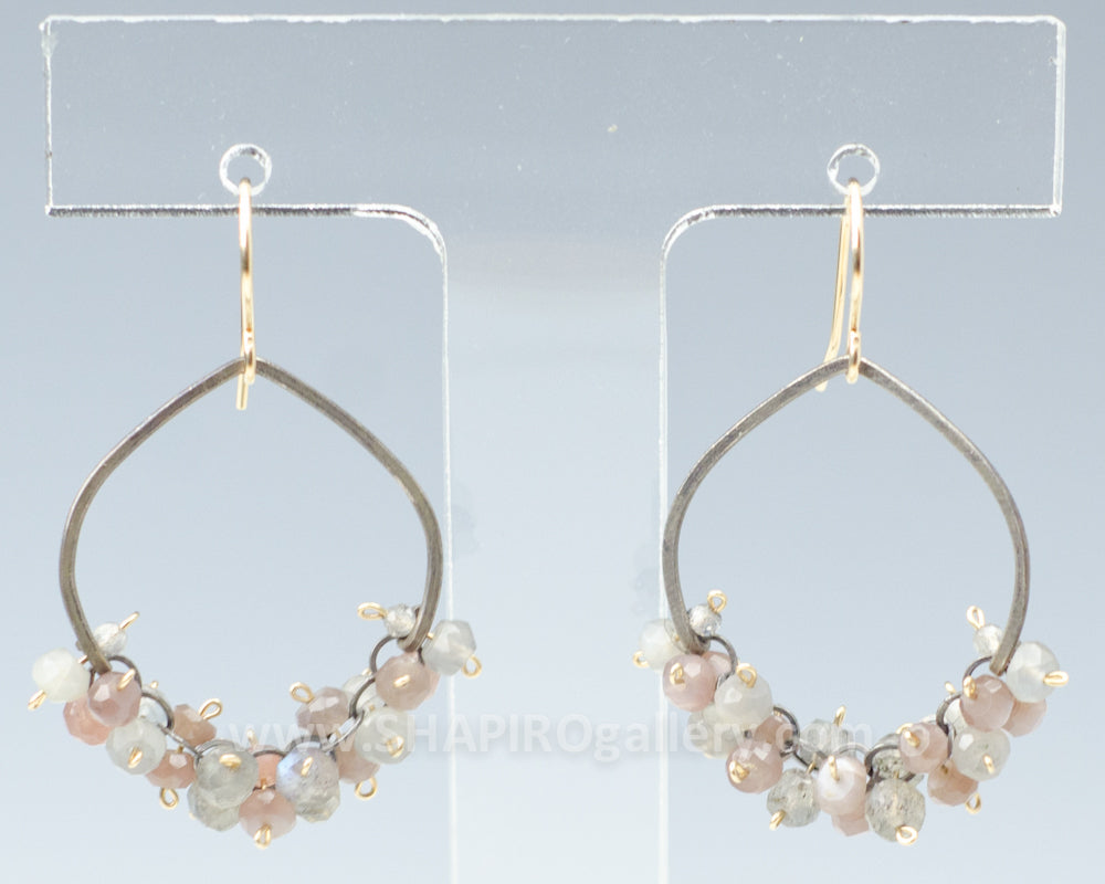 Hammered Circle Shaped Earrings