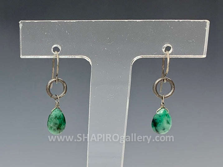Small Emerald Earrings