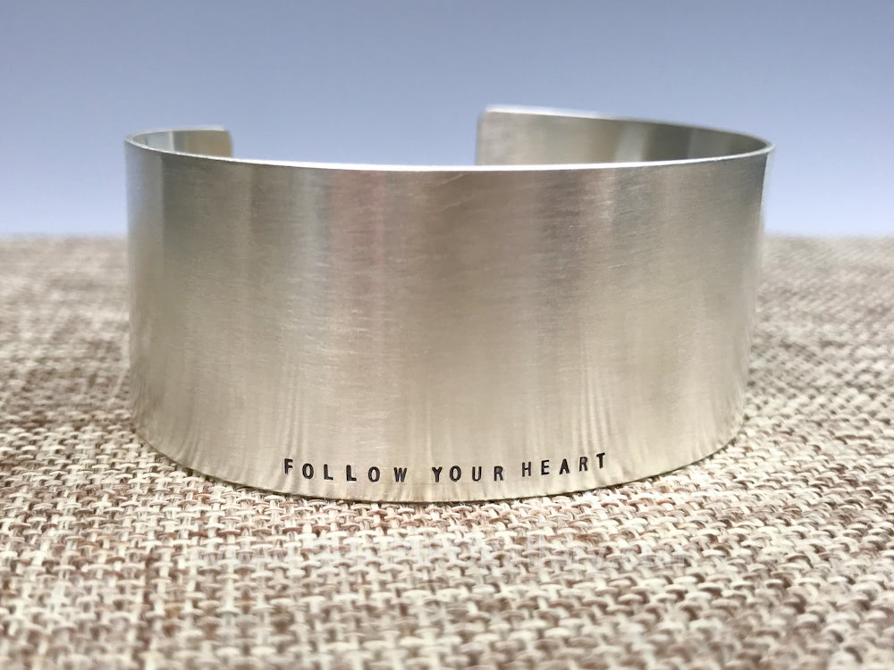 Epic Silver Cuff - Follw your heart