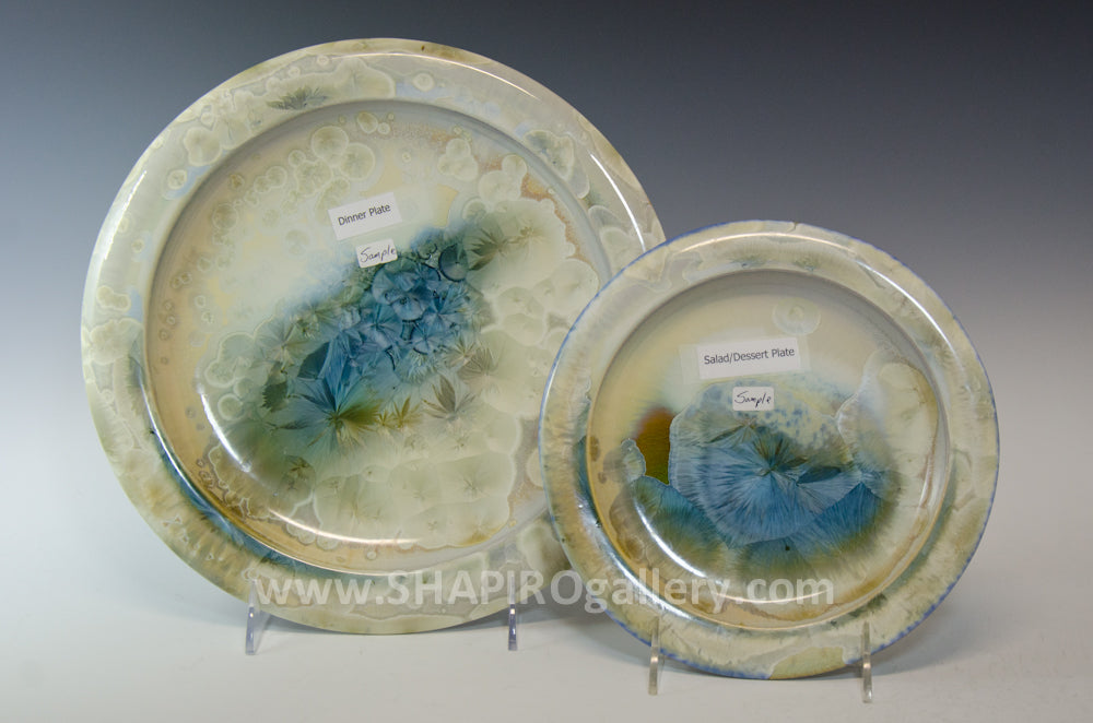 Crystal Glaze Two Piece Place Setting - 4 Sets