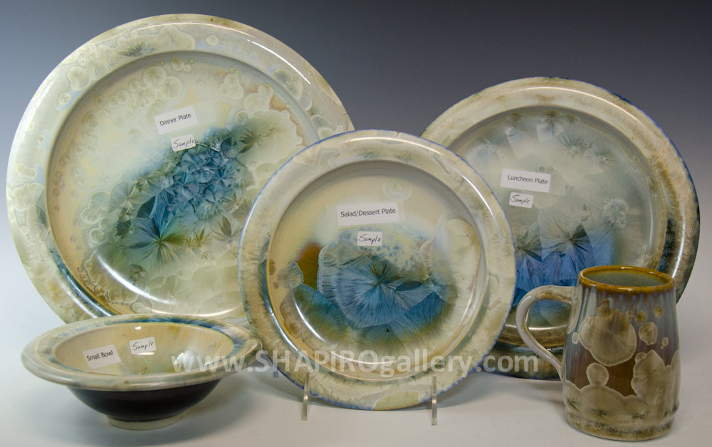 Crystal Glaze Four Piece Place Setting - 4 Sets
