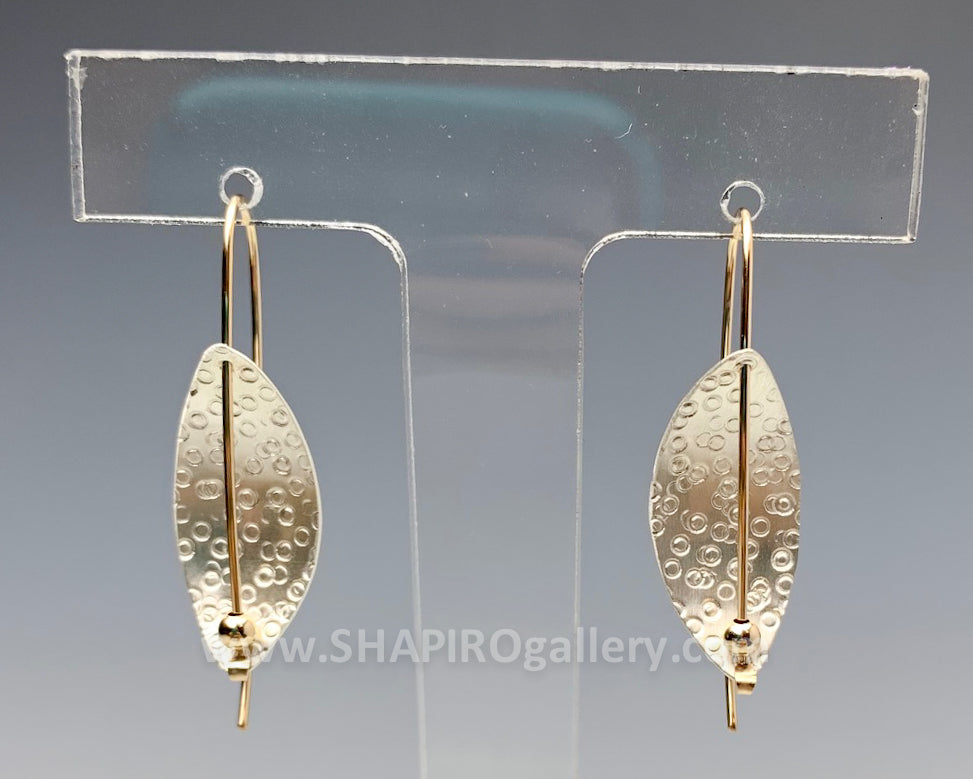 Circle Etch Leaf Earrings