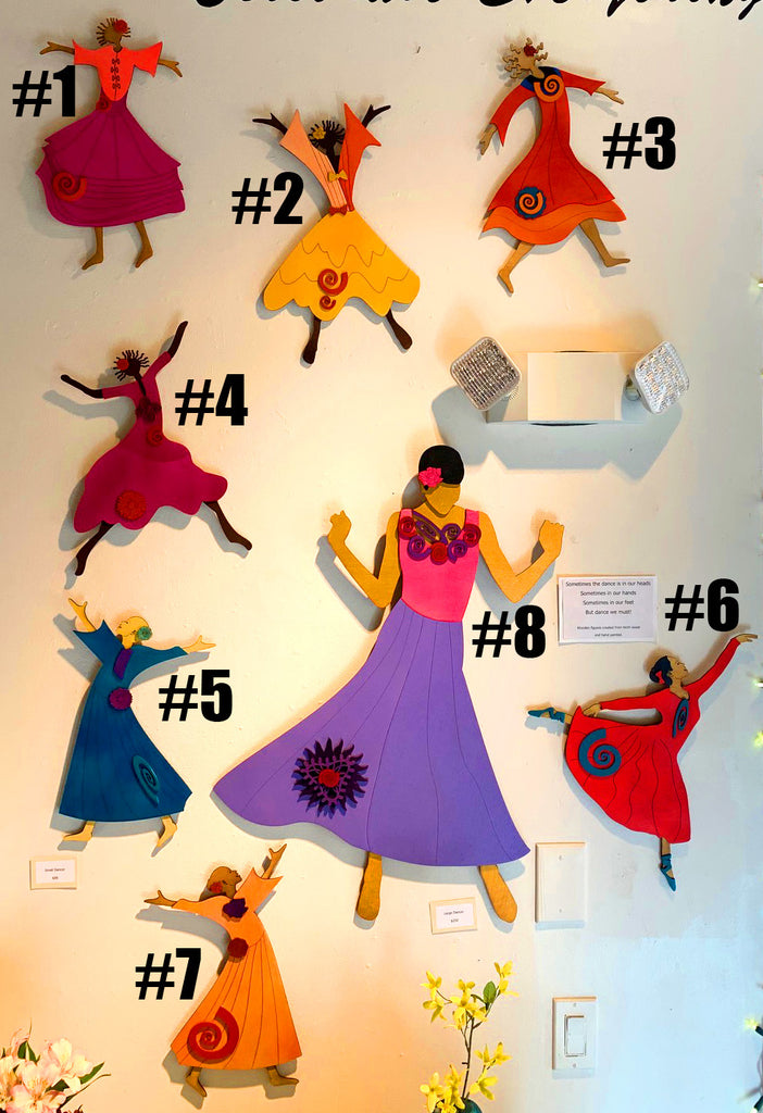 Colorful Wall Dancers (multiple sizes and colors available)