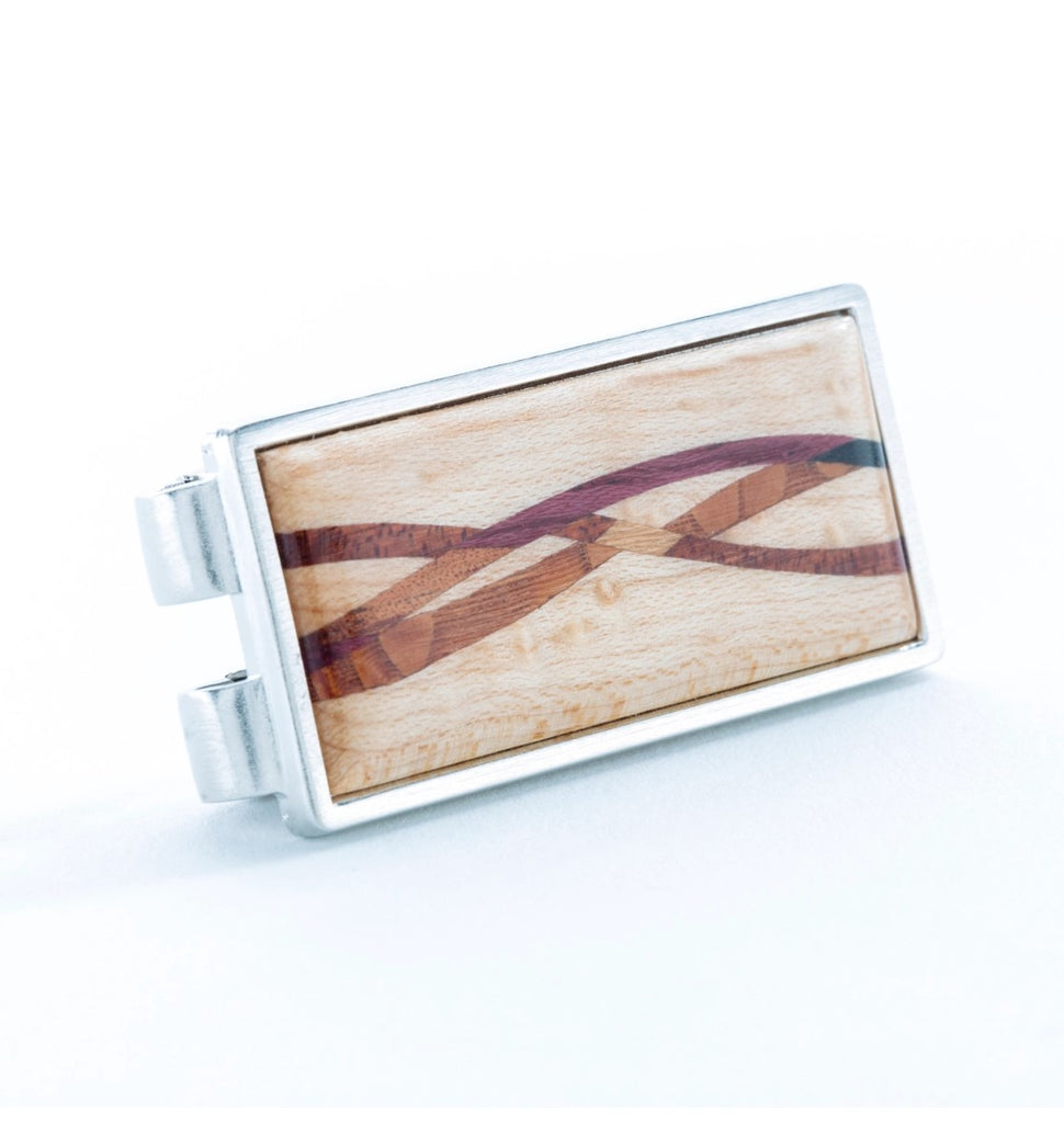 Figured Maple Inlay Money Clip