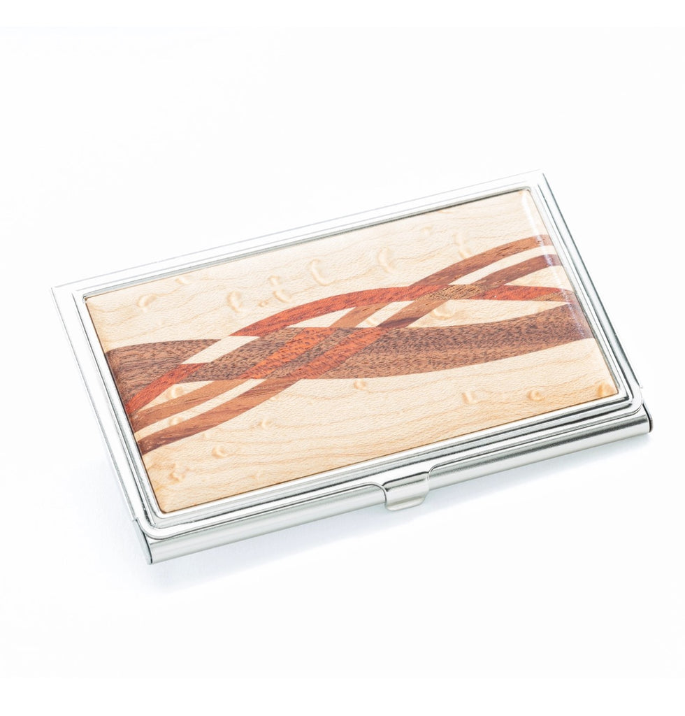 Figured Maple Inlay Business Card Case