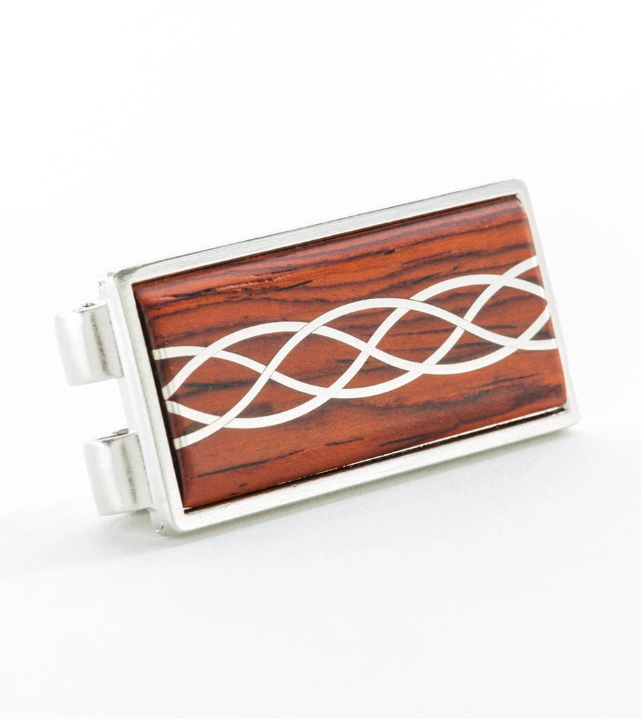 Cocobolo with Silver Inlay Money Clip
