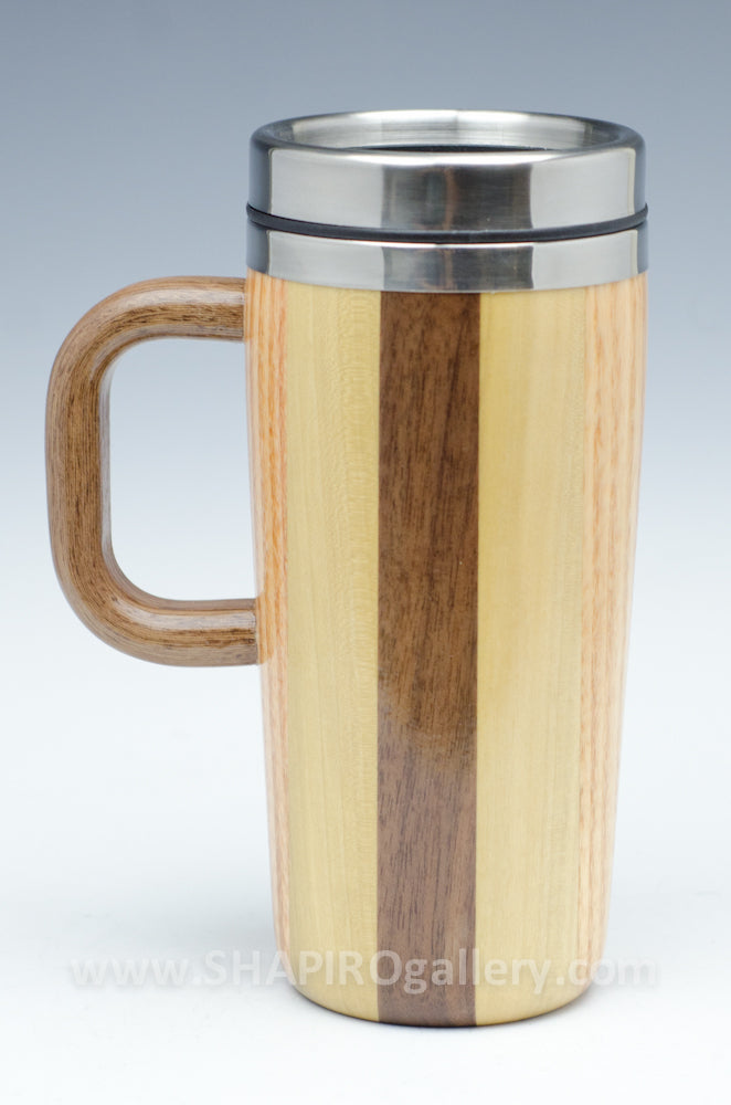 Wood Travel Mug with Handle