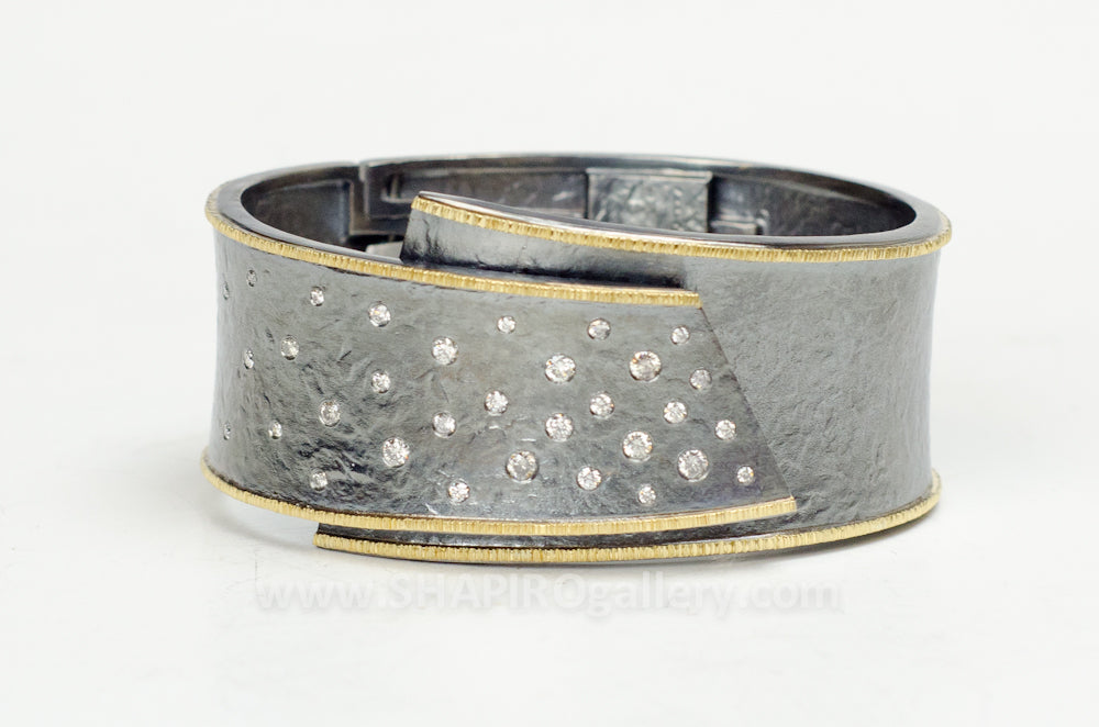 Gray Diamond Hinge Bracelet