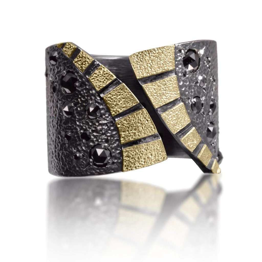 Black Diamond Stripe Ring