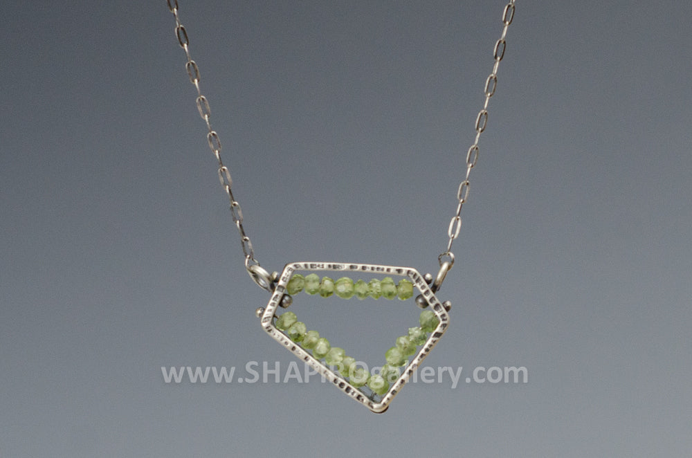 Peridot Geometric Necklace