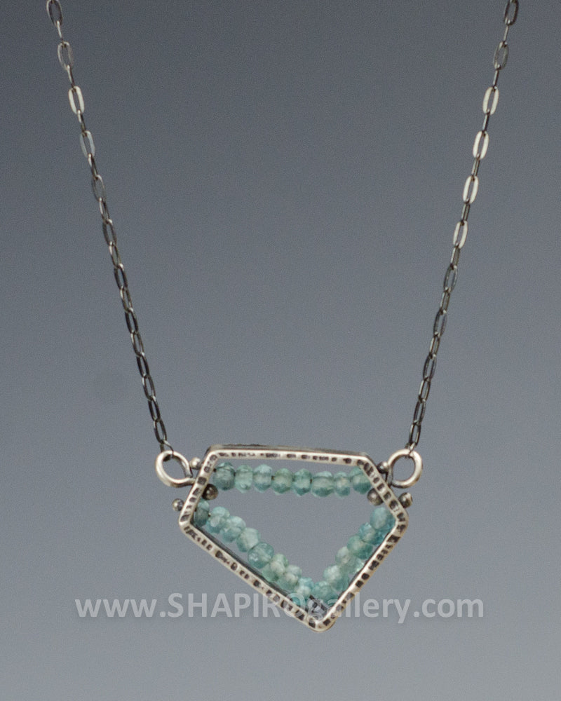 Apatite Geometric Necklace