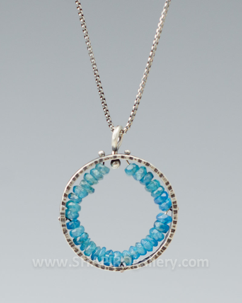 Apatite Circle Necklace