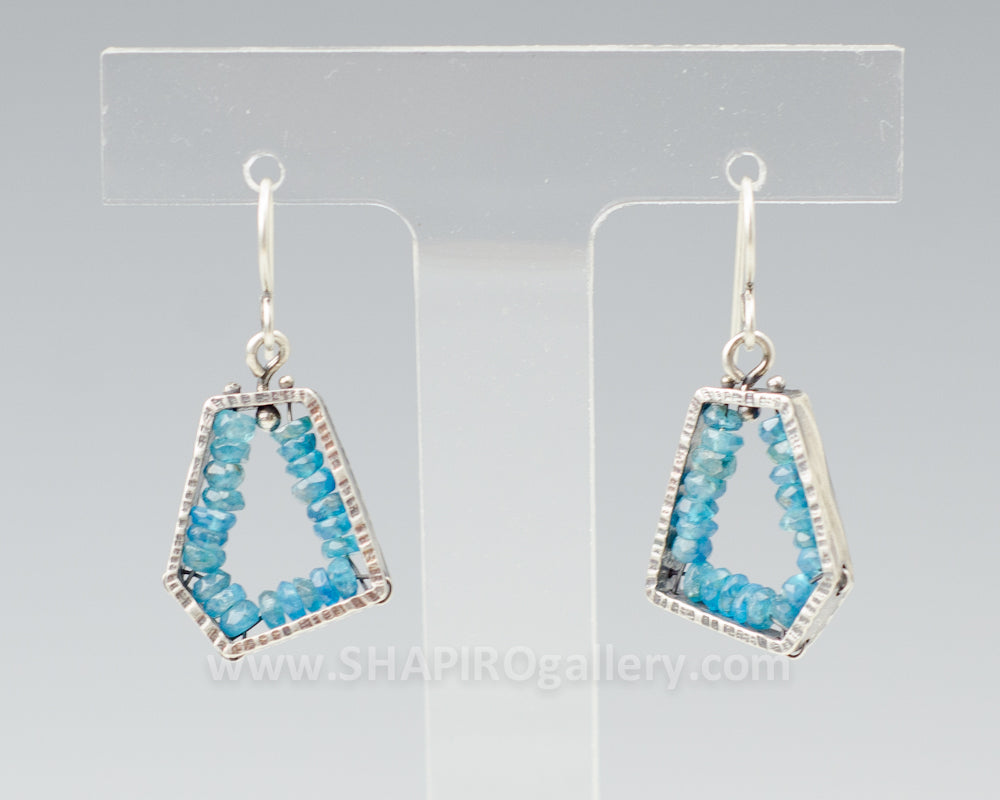 Apatite Geode Earrings