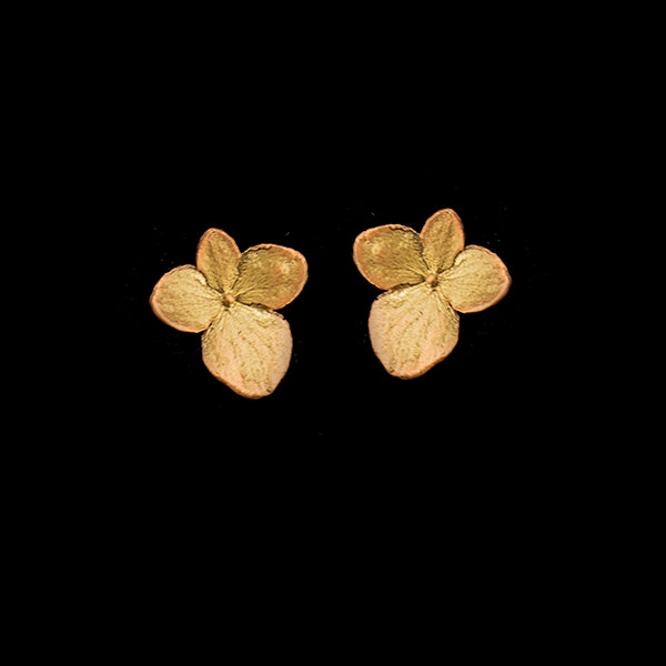 Hydrangea Petal Post Earrings