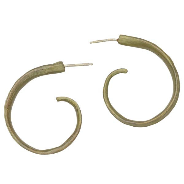 Rice Leaf Hoop Earring