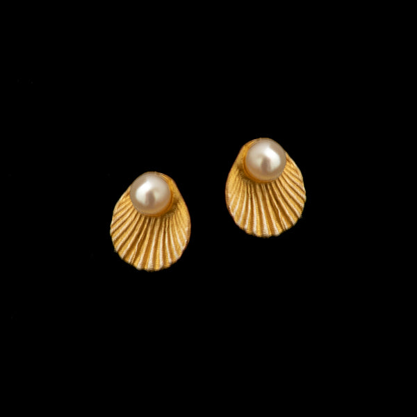 Sea Scallop Post Earrings