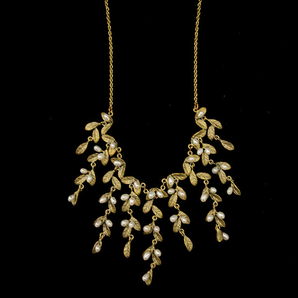 Petite Leaf Statement Necklace