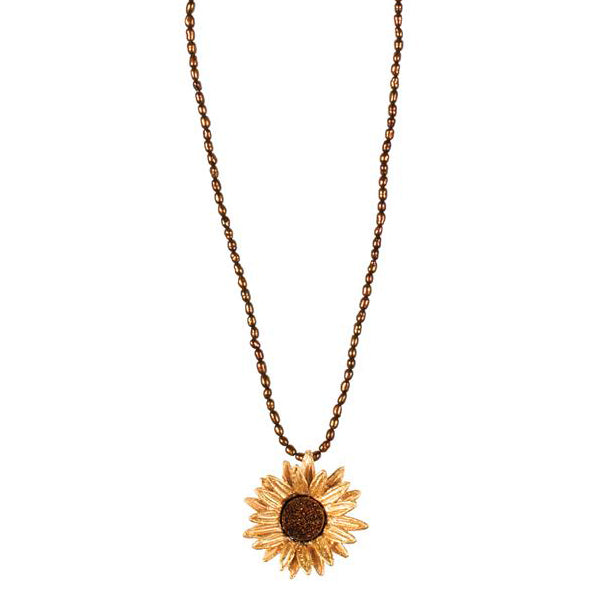 Small Sunflower Necklace