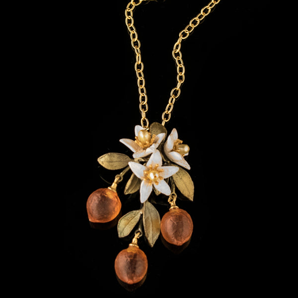 "Orange Blossom 16"" Adjustable Necklace"