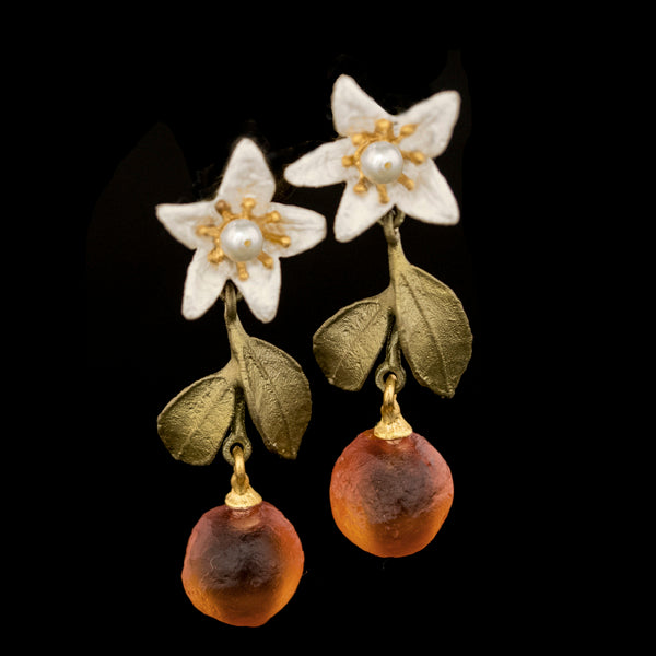 Orange Blossom Drop Earrings