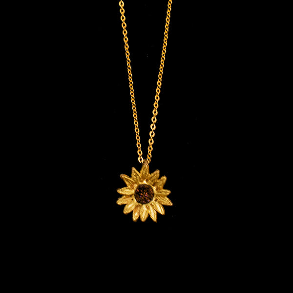 Petite Sunflower Necklace